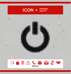 power button - halftone logo vector image