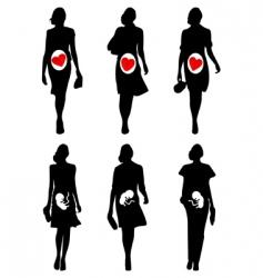 pregnant women vector image vector image