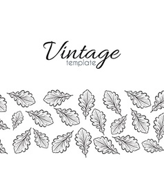 Retro pattern for design of leaves Leaves in vector image vector image
