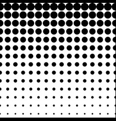 seamless pattern circles halftone transition vector image