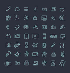 set of smart devices and gadgets computer vector image vector image