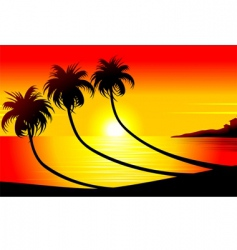 sun set vector image