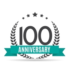 Template logo 100 years anniversary vector