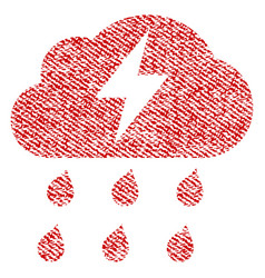 Thunderstorm fabric textured icon vector
