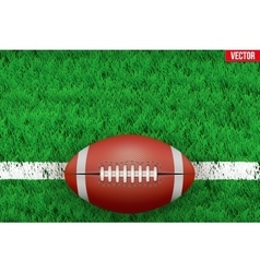 White line on sport grass field vector