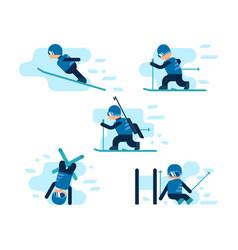 Winter games skiing vector