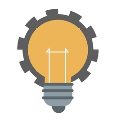 Lightbulb with gear icon vector