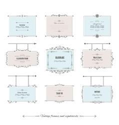 Luxury vintage frames and signboards set vector