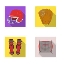 Helmet protective knee pads and other accessories vector
