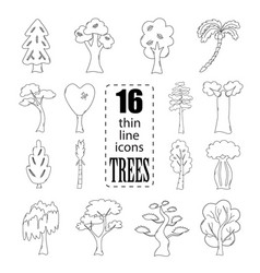 isolated trees set vector image
