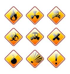 Orange warning signs vector