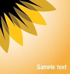 Abstract sunflower on sky vector