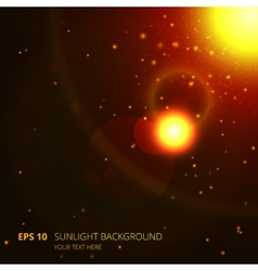 Sunlight background vector