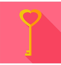 Heart shaped key vector