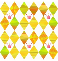 Seamless pattern with carnival crown vector