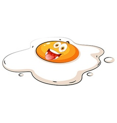 Egg yolk with happy face vector