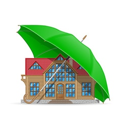 Concept home under umbrella vector