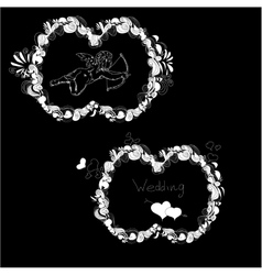Template for wedding vector