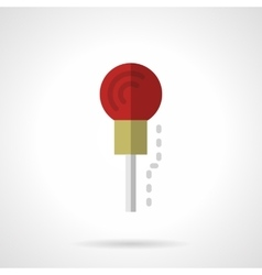 Red microphone flat color icon vector