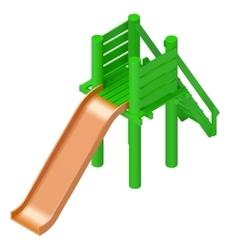 Childrens slide playground isometric vector