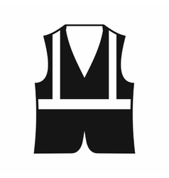 Vest icon simple style vector