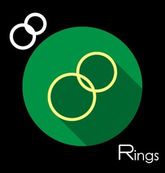 Rings icon vector image