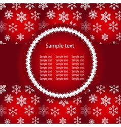 Abstract winter red background with sample text vector image vector image