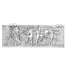 Bacchic rome which used intoxicants vintage vector