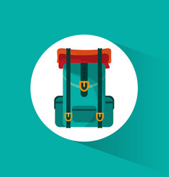 Backpack travel equipment icon vector