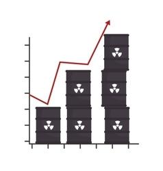 Barrel productivity increase arrow design isolated vector