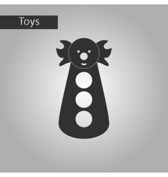 Black and white style toy clown vector