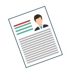 Business curriculum vitae with photo vector