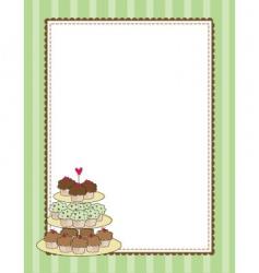 cupcake border vector image