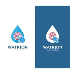 drop and click logo combination Aqua and vector image vector image