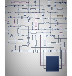 Electrical Circuit diagram vector image