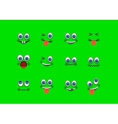 emoji set vector image vector image