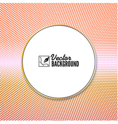 halftone colored pattern background round spot vector image vector image