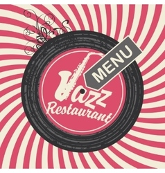Jazz restaurant menu vector