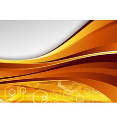 Modern golden hi-tech background vector image vector image