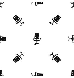 Office chair pattern seamless black vector