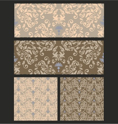 seamless pattern damask vector image vector image
