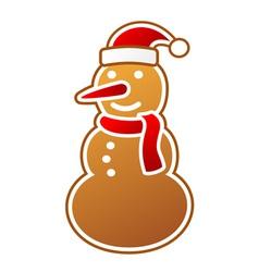 Snowman gingerbread vector image vector image