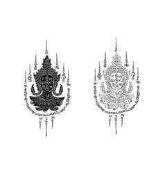 Thai tradition tattoo vector