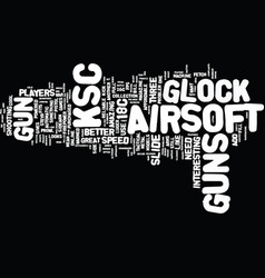 The mean ksc airsoft guns text background word vector