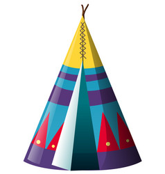 Traditional teepee shelter on white background vector