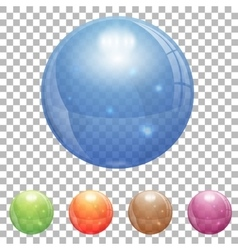 Transparent Glass Ball vector image