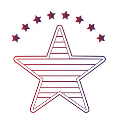 united states of america with star emblem frame vector image vector image