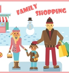 winter shopping vector image