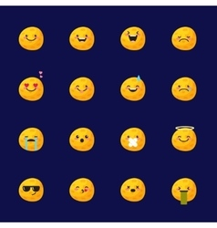 Moon emoji set funny planet emoticons vector