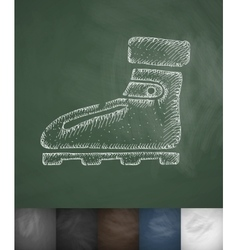 Boots icon hand drawn vector